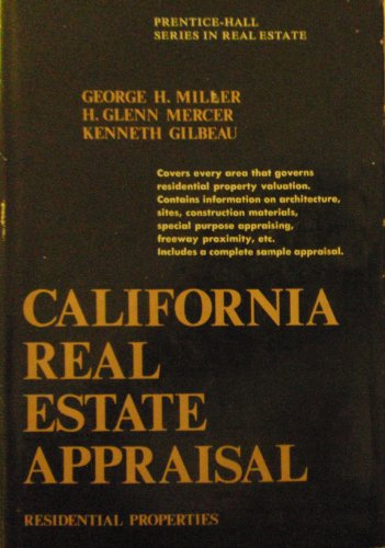 9780131125810: California real estate appraisal: residential properties (Prentice-Hall series in California real estate)