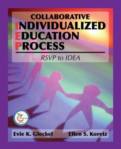 9780131125933: Collaborative Individualized Education Process: RSVP to IDEA