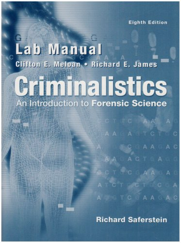 9780131126817: Lab Manual - Criminalistics: An Introduction To Forensic Science