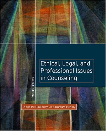9780131128149: Ethical, Legal, and Professional Issues in Counseling (2nd Edition)