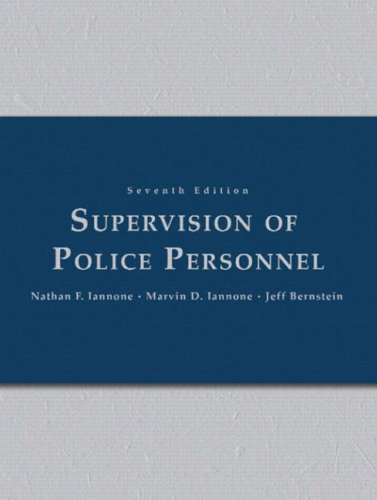 9780131131613: Supervision of Police Personnel (7th Edition)