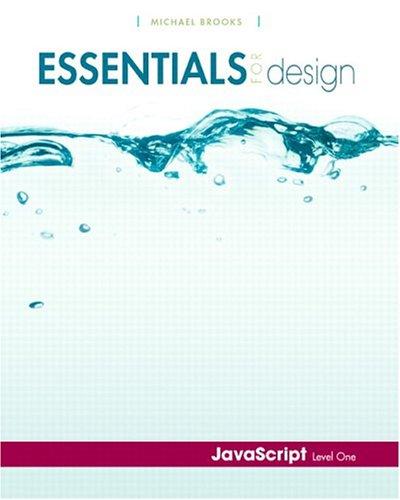 9780131132870: Essentials for Design JavaScript- Level 1