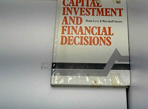 9780131134232: Capital Investment and Financial Decisions