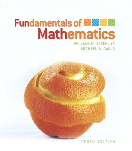 9780131139411: Fundamentals of Mathematics