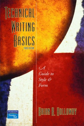 9780131140899: Technical Writing Basics: A Guide to Style and Form (3rd Edition)