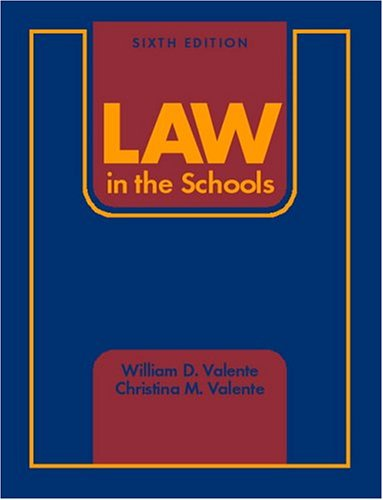 9780131141551: Law in the Schools (6th Edition)