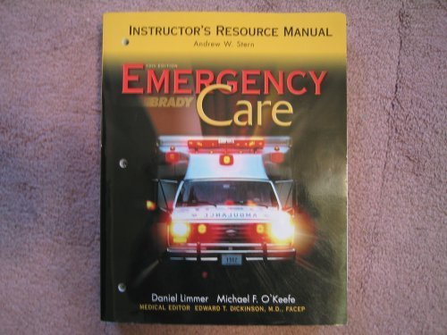 9780131142442: Emergency Care: Instructor's Resource Manual - 10th Edition