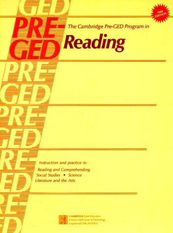 The Cambridge Pre-Ged Program in Reading: Cambridge University Press