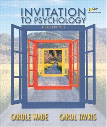 9780131146242: Invitation to Psychology (3rd Edition)