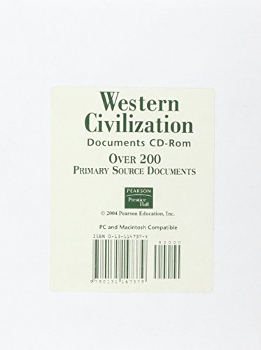 9780131147379: Western Heritage 1300 - Present Documents CD Rom