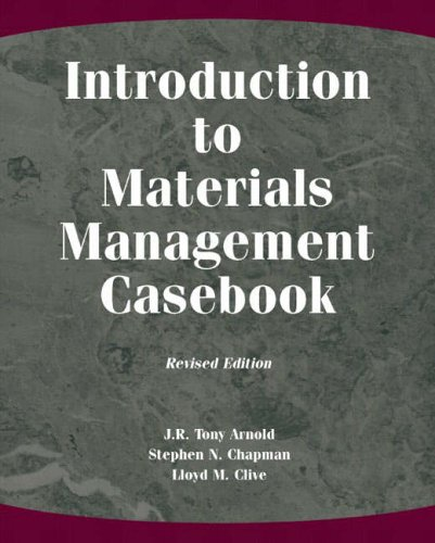 Introduction To Material Management By Tony Arnold Pdf