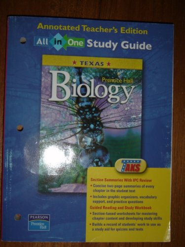 9780131155411: Prentice Hall Biology All in One Study Guide Texas Teacher's Edition