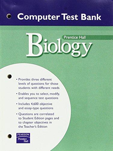 9780131155435: PRENTICE HALL MILLER LEVINE BIOLOGY COMPUTER TEST BANK WITH CDROM 2004