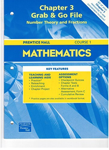 Prentice Hall Pre-Algebra Chapter 3 Grab &: Pearson Prentice Hall