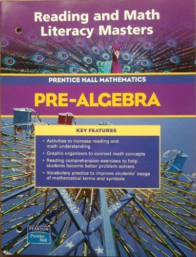 9780131156135: PRENTICE HALL MATH PRE-ALGEBRA READING AND MATH LITERACY BLACKLINE MASTERS 2004C