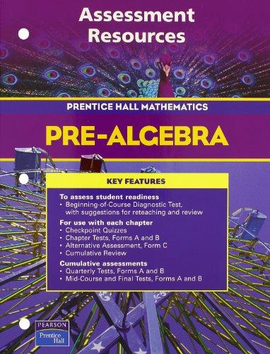 9780131156173: PRENTICE HALL MATH PRE-ALGEBRA ASSESSMENT RESOURCES BLACKLINE MASTERS 2004C