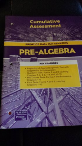 9780131156210: Prentice Hall Mathematics, Pre-Algebra - Cumulative Assessment