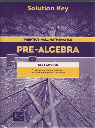 9780131156258: Prentice Hall Pre-Algebra Solution Key