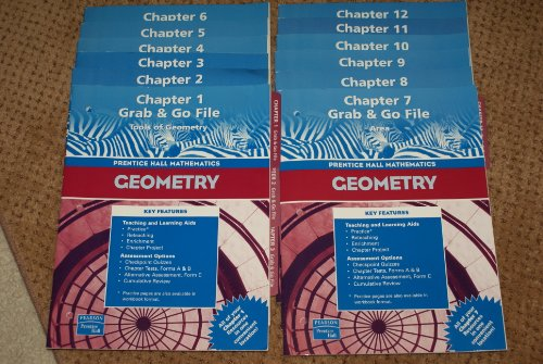 9780131157194: Prentice Hall Mathematics Geometry Grab and Go File 1-12 (Prentice hall mathematics geometry)