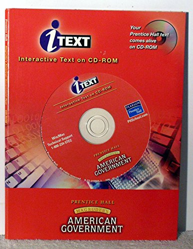 9780131159600: MAGRUDER'S AMERICAN GOVERNMENT ITEXT CD-ROM 2003C