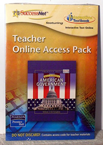 9780131161122: Teacher Online Access Pack - Magruder's American Government