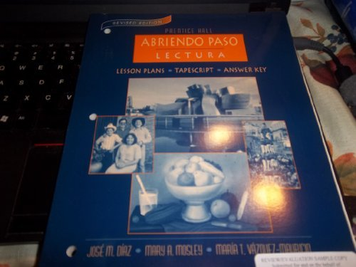 Prentice Hall Abriendo Paso Lectura (Lesson Plans,: Pearson Education