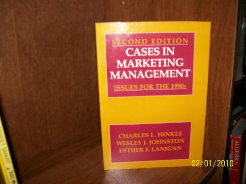 9780131163515: Cases in Marketing Management: Issues for the 1990s
