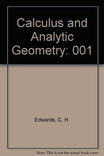 9780131165755: Calculus and Analytic Geometry: 001