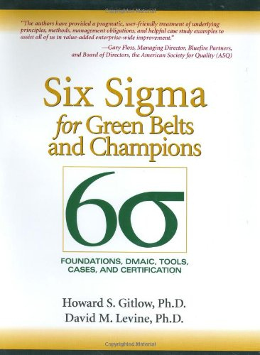 9780131172623: Six Sigma For Green Belts And Champions: Foundations, Dmaic, Tools, Cases, And Certification