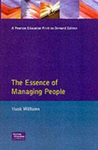 9780131173262: Essence of Managing People