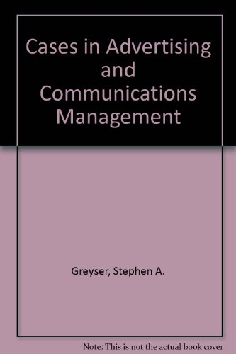 9780131175082: Cases in Advertising and Communications Management