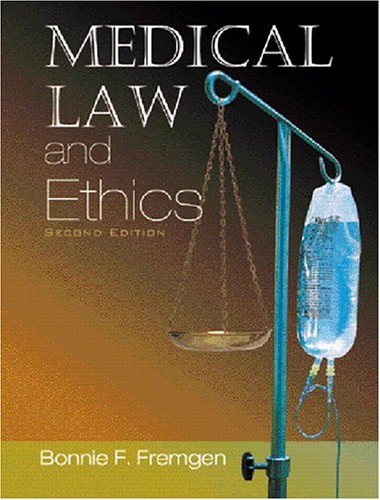 9780131177086: Medical Law and Ethics (2nd Edition)