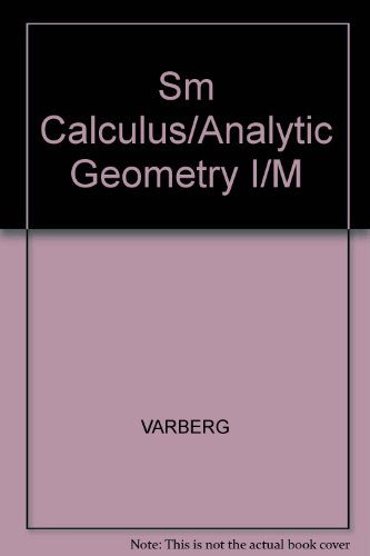 9780131177895: Sm Calculus/analytic Geometry I/M