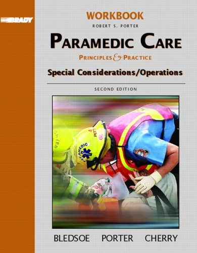 9780131178427: Student Workbook: Paramedic Care: Principles and Practice, Special Considerations/ Operations