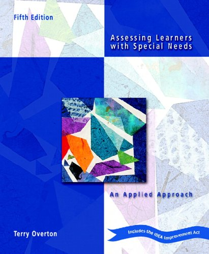 9780131179905: Assessing Learners with Special Needs: An Applied Approach (5th Edition)