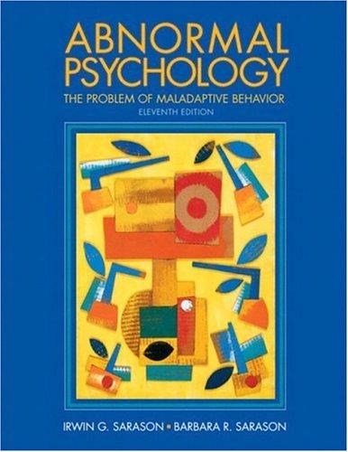 9780131181113: Abnormal Psychology: The Problem of Maladaptive Behavior (Alternative Etext Formats)