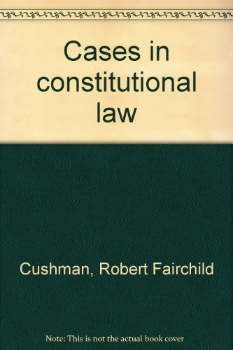 9780131182738: Cases in constitutional law