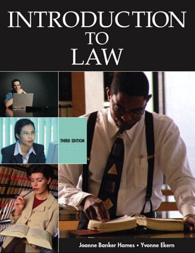 9780131183810: Introduction to Law (3rd Edition)