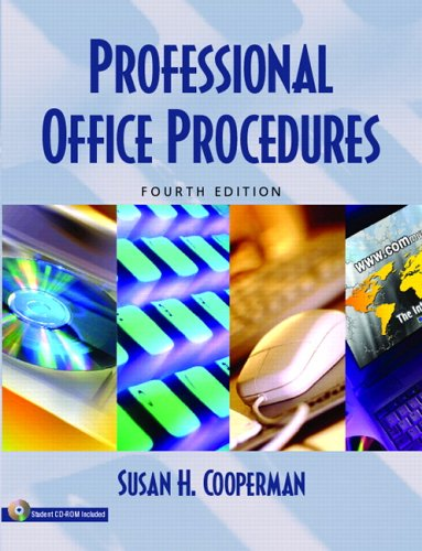 9780131183834: Professional Office Procedures (4th Edition)