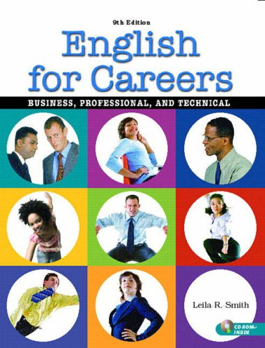 9780131183865: English for Careers: Business, Professional, and Technical