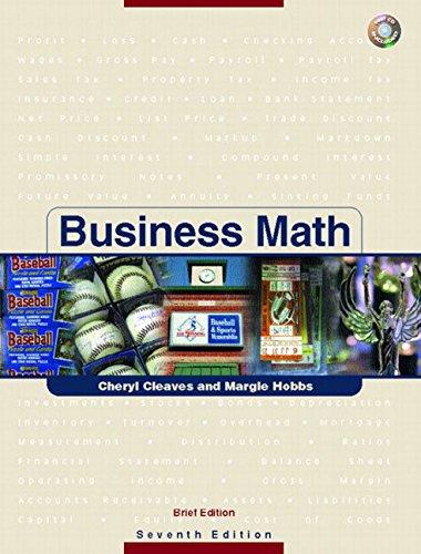 9780131184411: Business Math: Brief Version