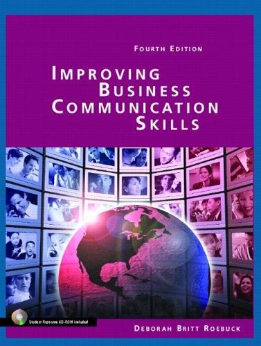 9780131184596: Improving Business Communication Skills (4th Edition)