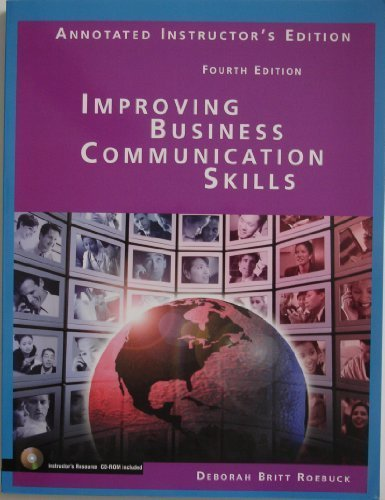 9780131184602: Improving Business Communication Skills Annotated Instructor's Edition Fourth Edition [Paperback]