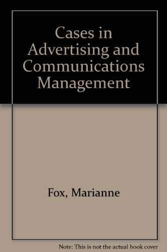 9780131184978: Cases in Advertising and Communications Management
