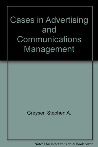 9780131185135: Cases in Advertising and Communications Management