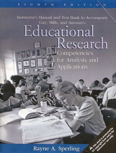 9780131185579: Educational Research: Competencies for Analysis and Applications: Instructor's Manual