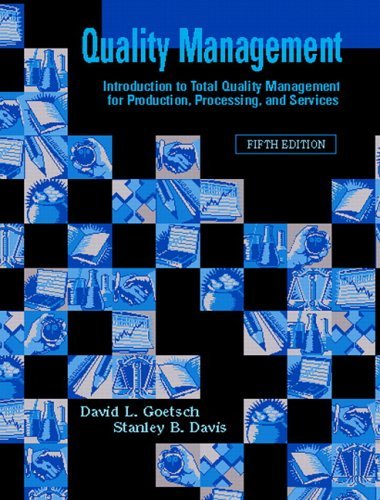 9780131189294: Quality Management (5th Edition)
