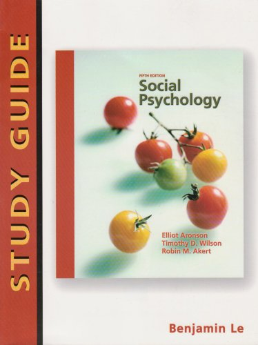 9780131189539: Social Psychology: Study Guide