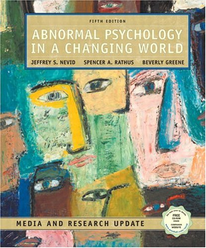 9780131189621: Abnormal Psychology in a Changing World, Media and Research Update (5th Edition)