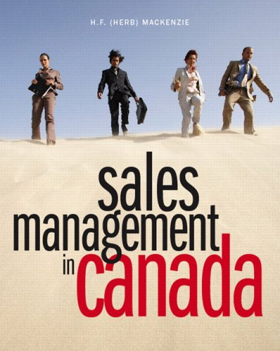 9780131189898: Sales Management in Canada